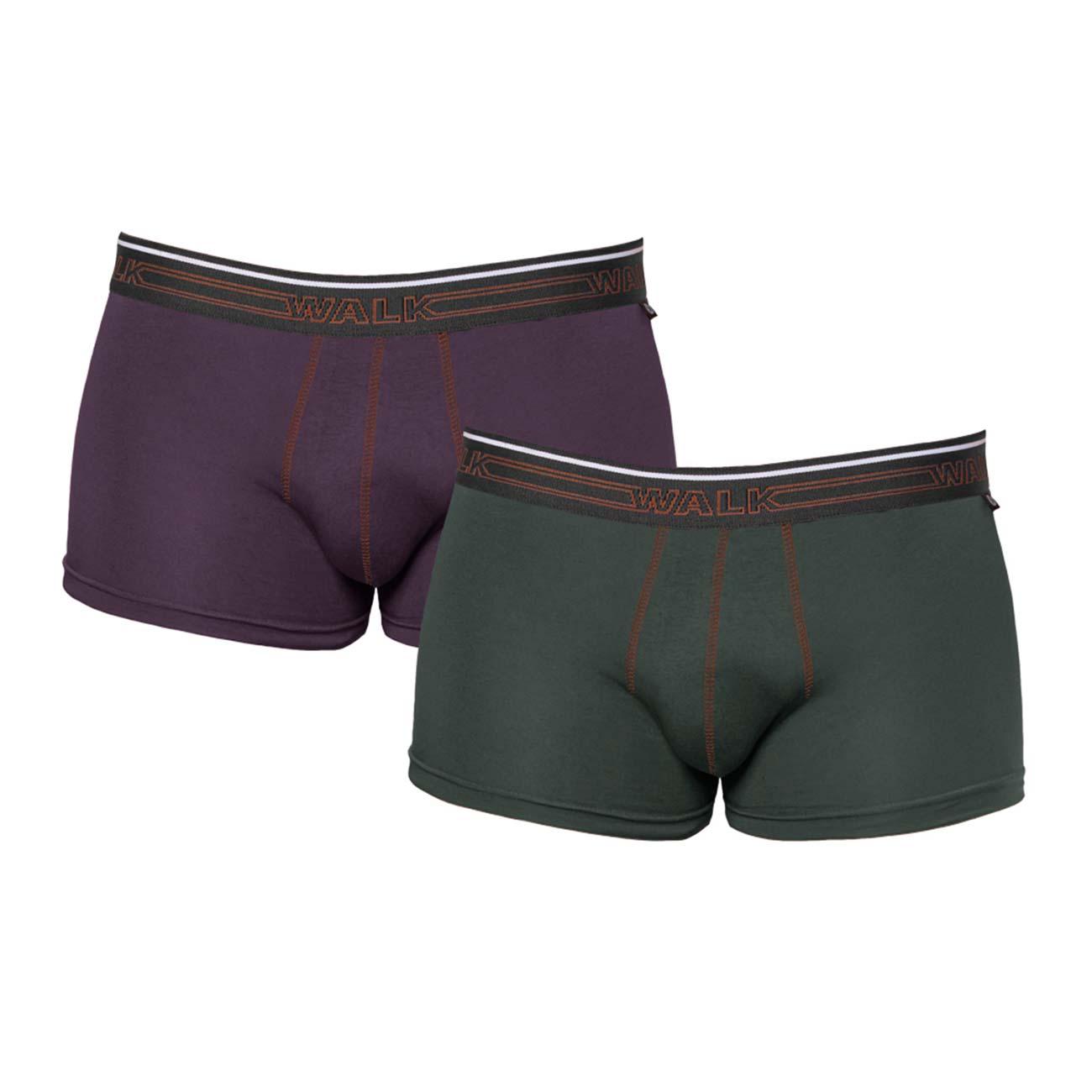 Ανδρικό Boxer Walk w1756 - 2 pack πράσινο σκούρο-μωβ