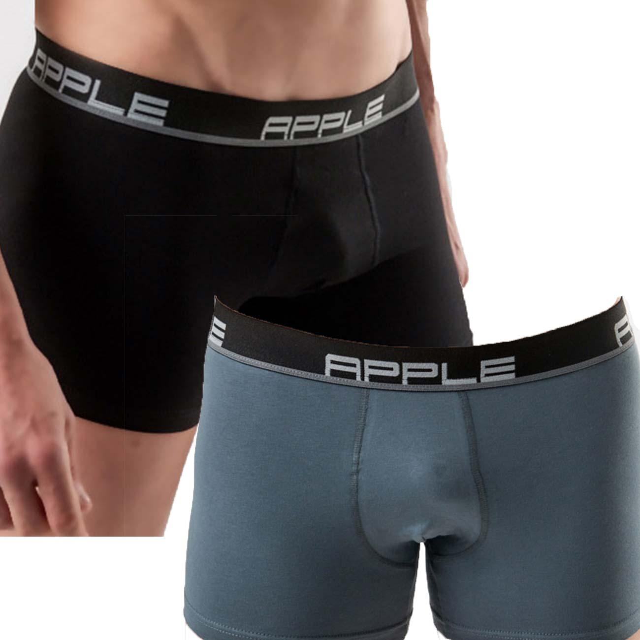 Ανδρικό boxer Apple 0112149 - 2 pack - Μαύρο-Ανθρακί, 2XL