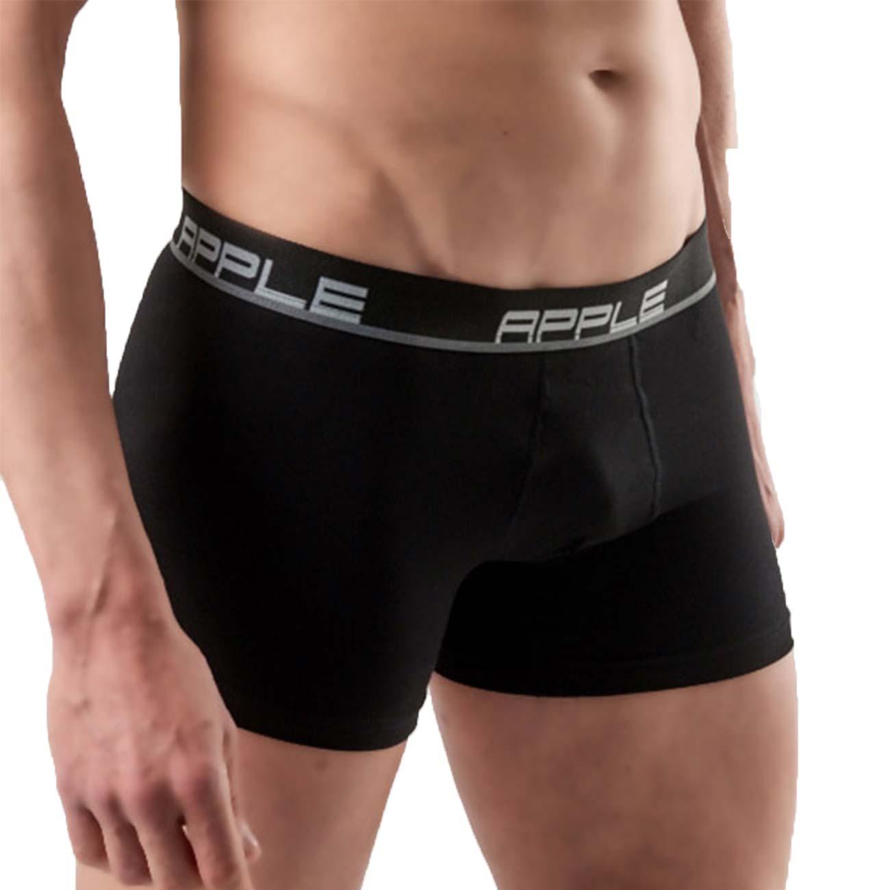 Ανδρικό boxer Apple 0112149 - 2 pack - Μαύρο-Μαύρο, 2XL