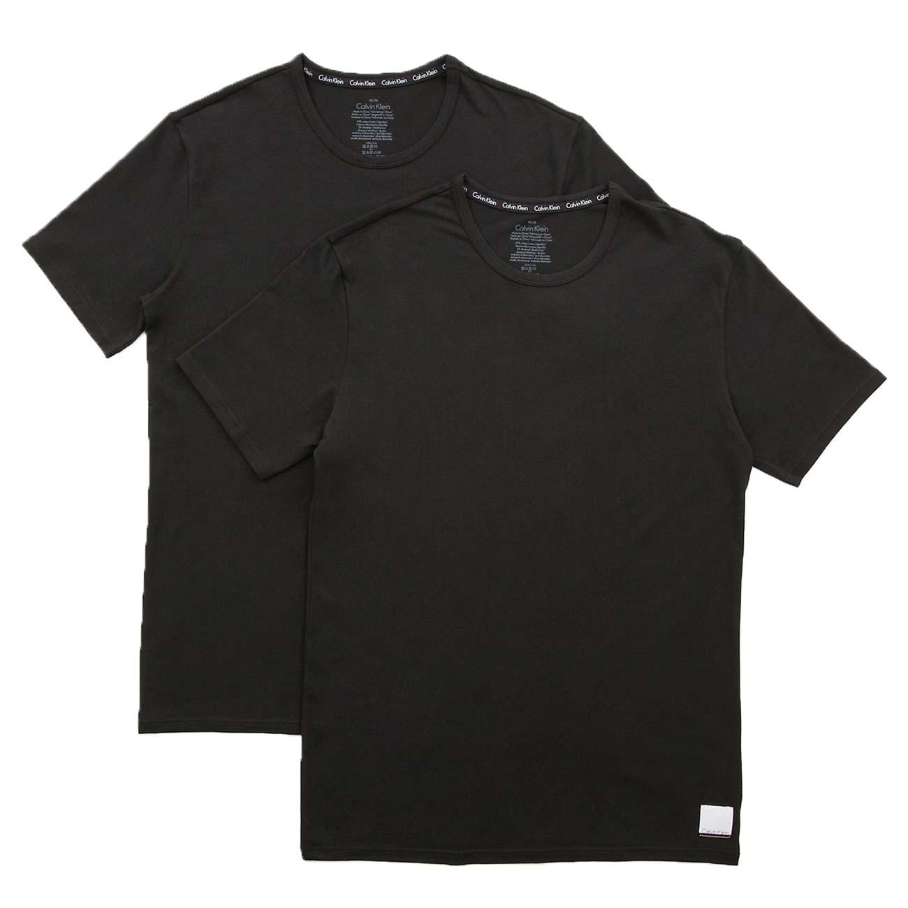 Ανδρική φανέλα Calvin Klein 8697 - 2 pack μαύρη