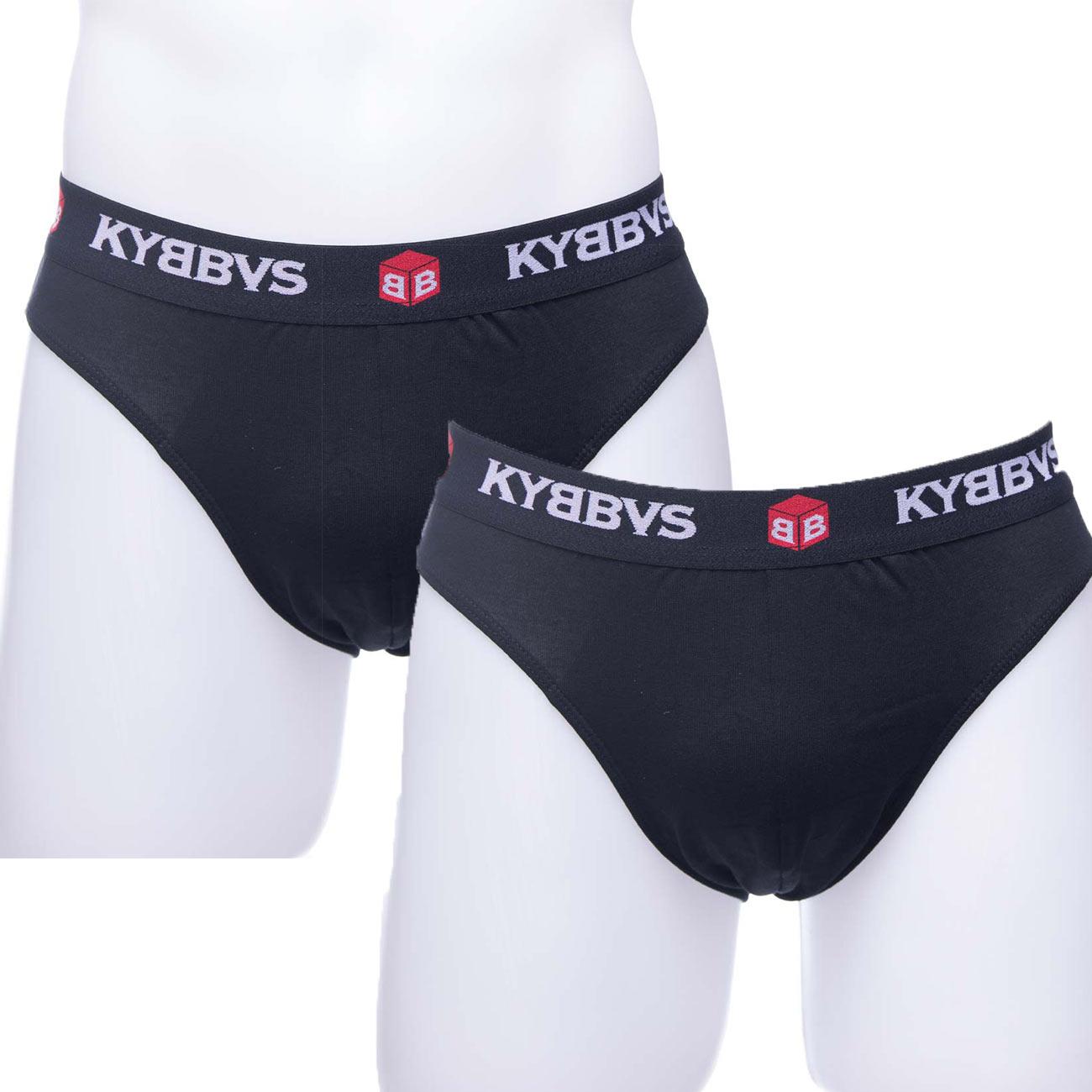 Ανδρικό slip Kybbus 901 - 2 pack μπλε σκούρο - γκρι ανοιχτό
