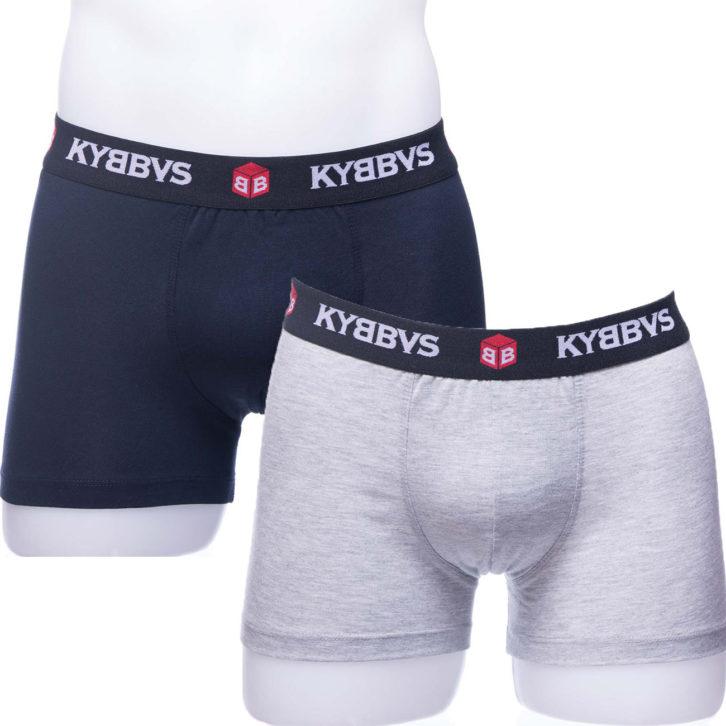Ανδρικό boxer Kybbus 902 – 2 pack μπλε - γκρι