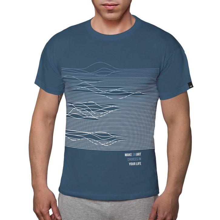 Ανδρικό t-shirt Walk - W5200-2_07 Πετρόλ