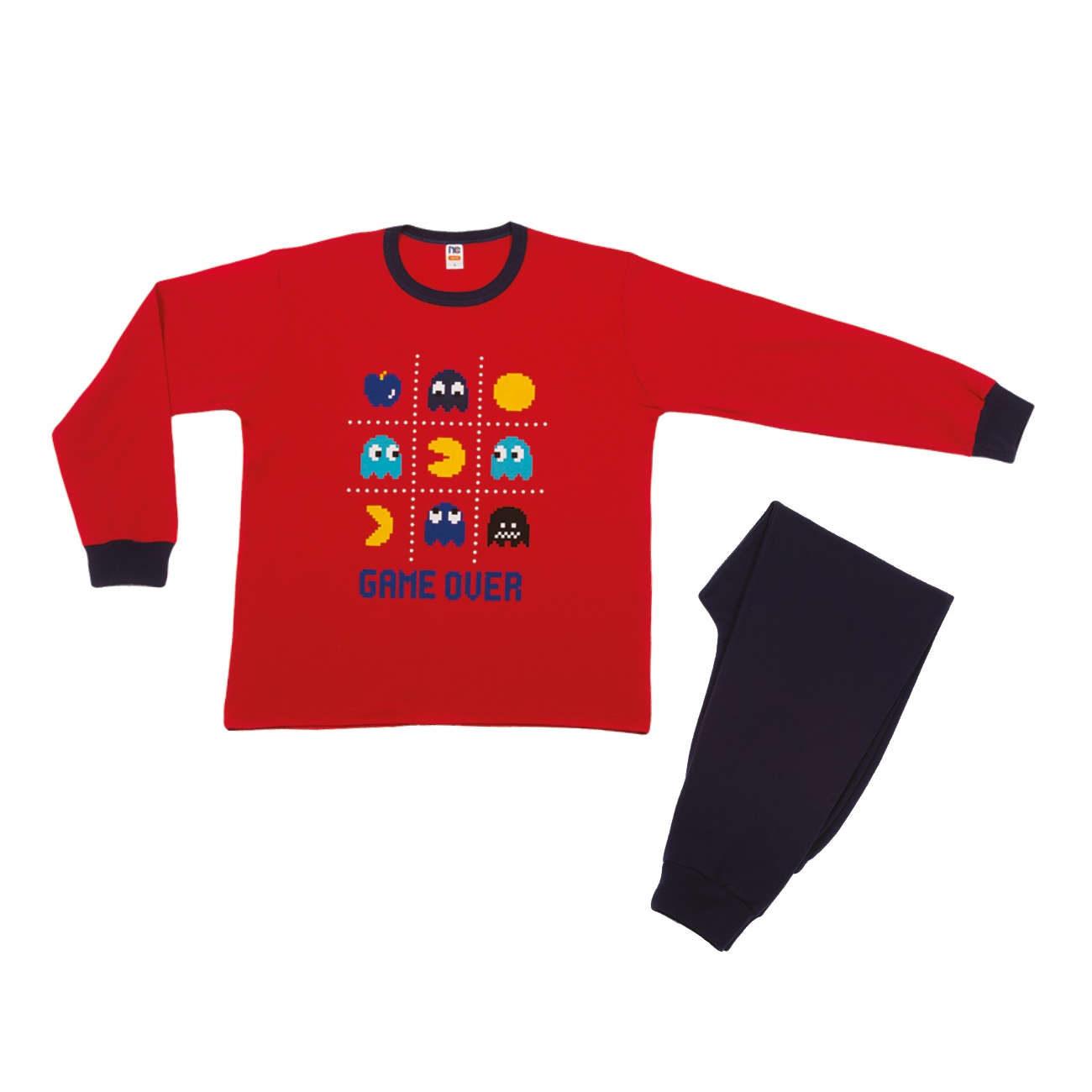 Ανδρική πυτζάμα NinaClub 700 κόκκινη