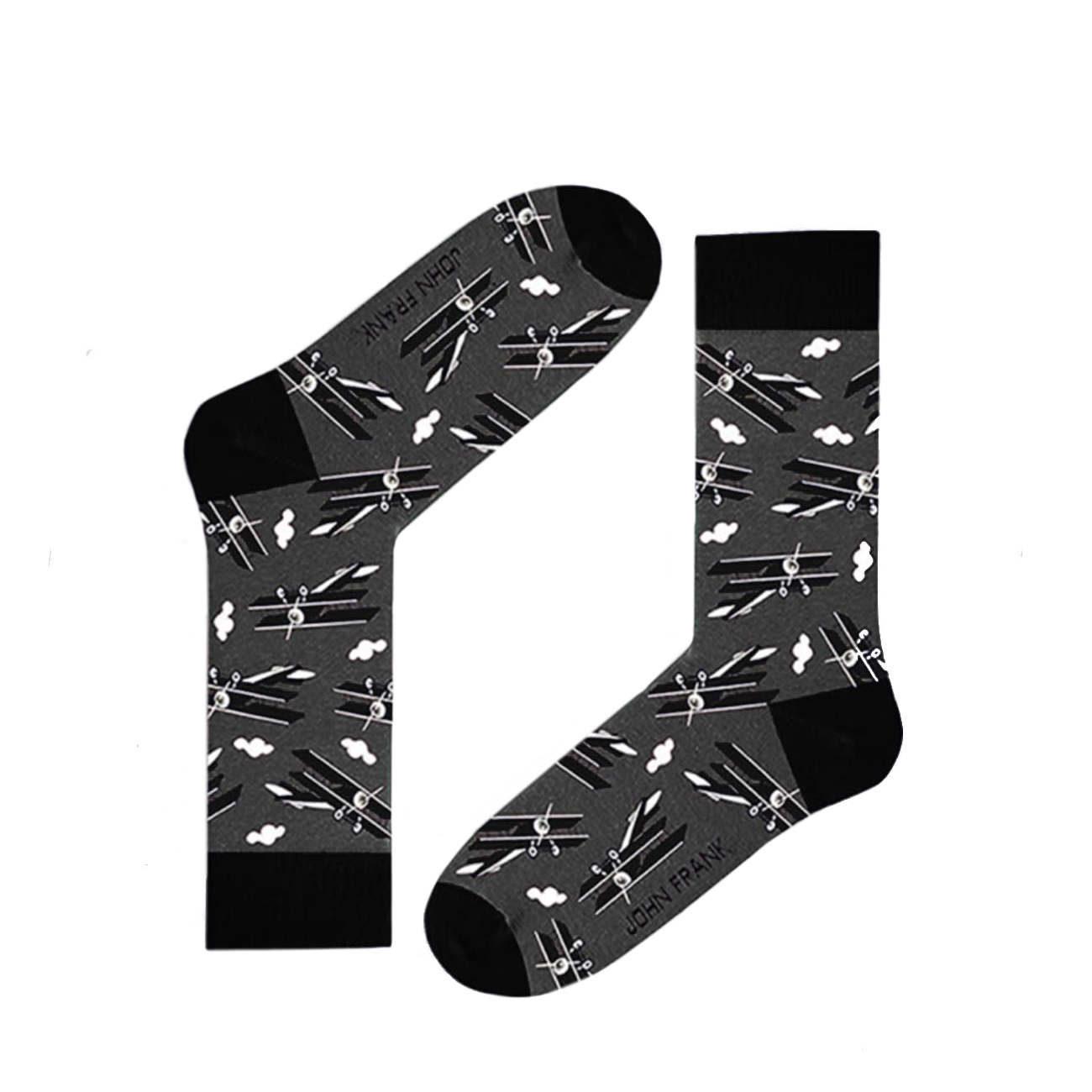 Ανδρική κάλτσα John Frank JFLSF19W40 γκρι