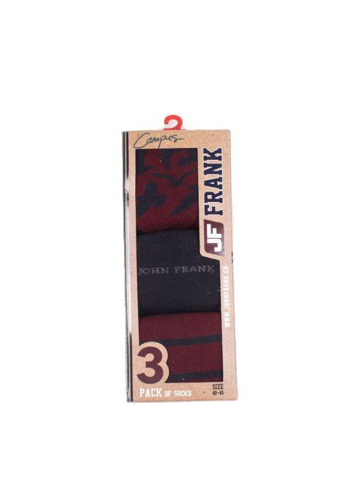 Ανδρική κάλτσα John Frank -JF3LSCA01-3 Pack-πολύχρωμη