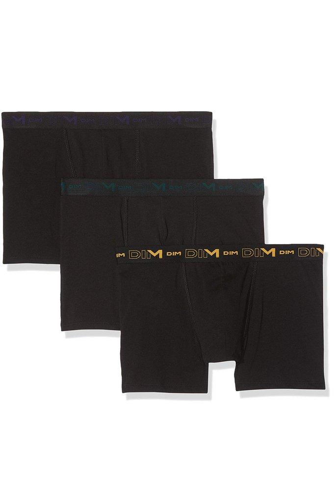 Ανδρικό boxer Dim 3 pack μαύρο - 6596 SS19
