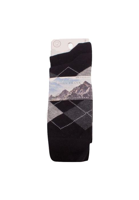 Ανδρική κάλτσα John Frank - JF2LS19W20- 2 Pack- πολύχρωμη