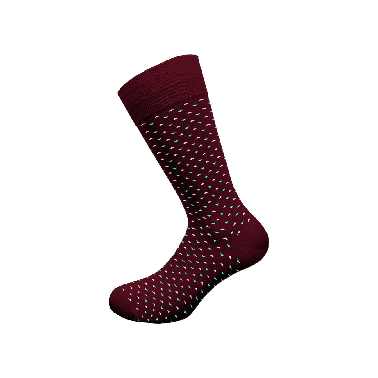 Ανδρική κάλτσα bamboo Walk - w304-9 Μπορντό