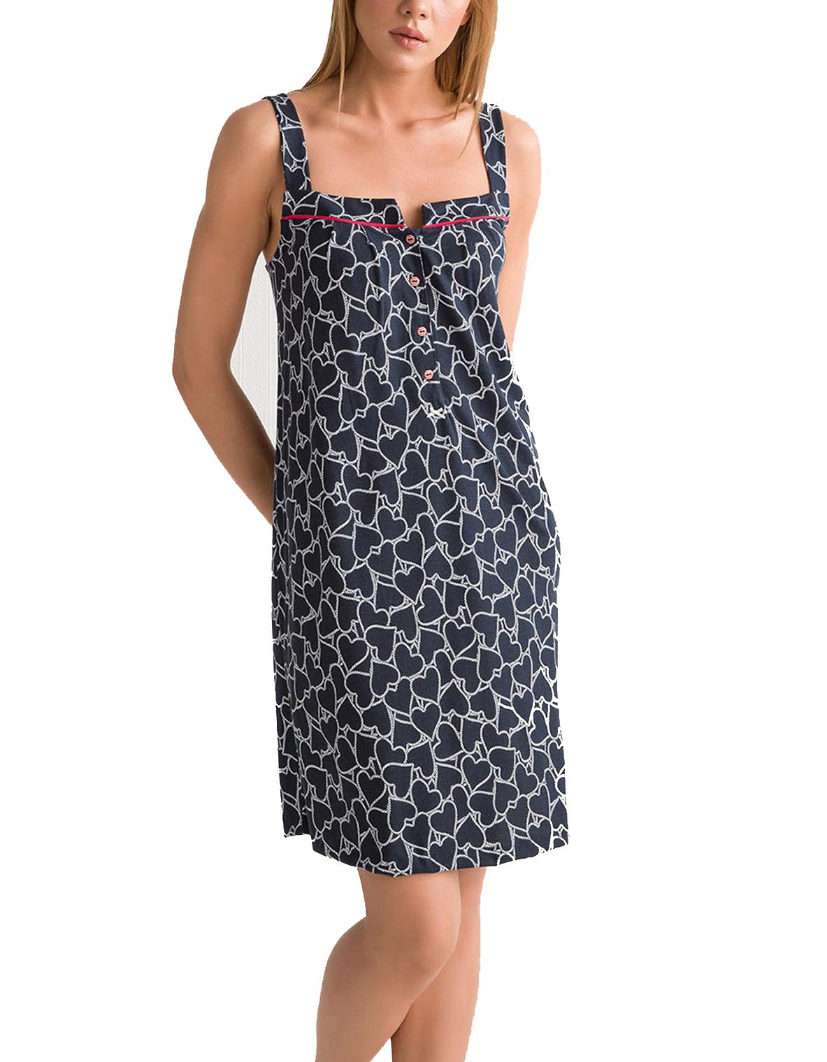 Γυναικείο Νυχτικό Vamp Θηλασμού -  00-10-5508 Μπλε