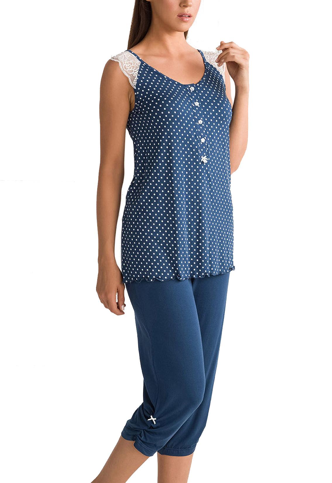 Γυναικεία Πυτζάμα Vamp - 00-10-5656 Μπλε