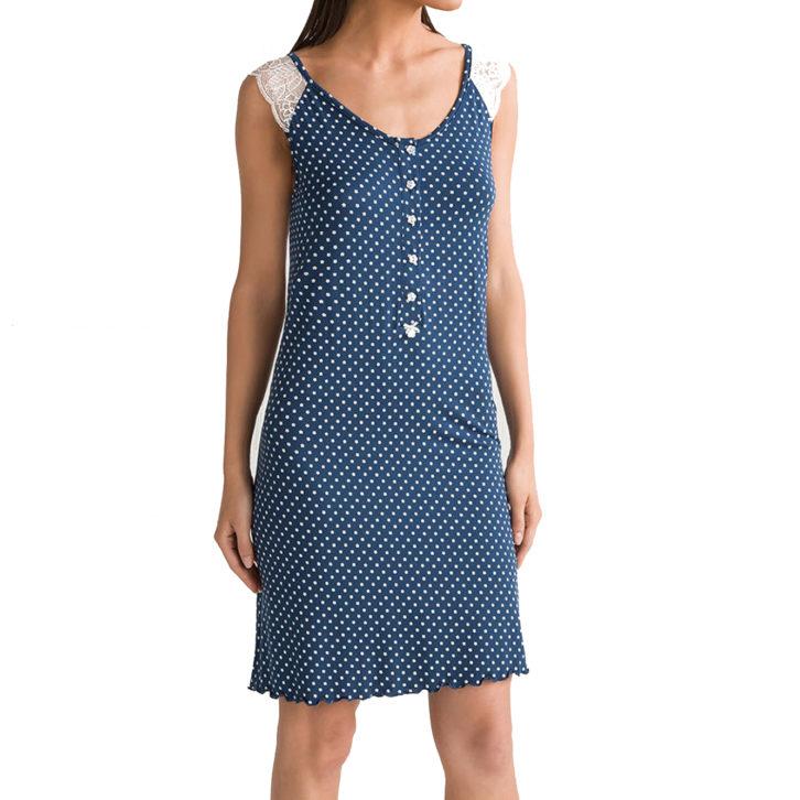 Γυναικείο Νυχτικό Vamp Θηλασμού - 00-10-5655 Μπλε