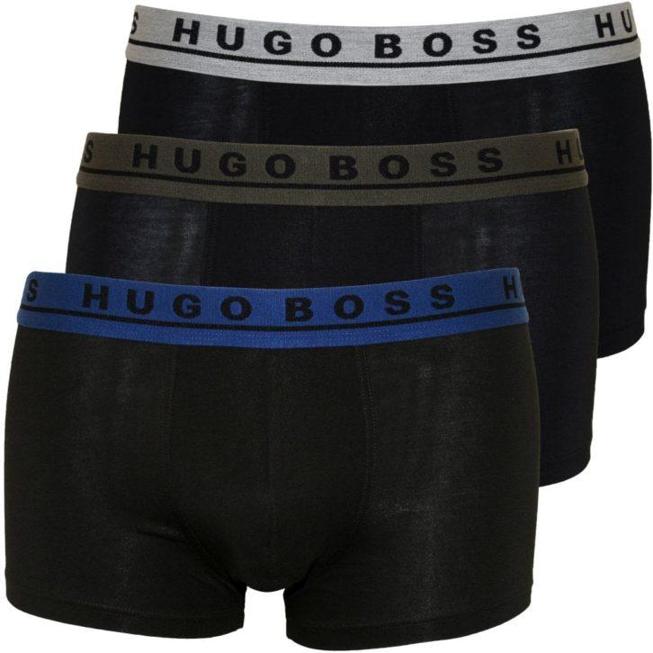 Ανδρικό boxer Hugo Boss 3 pack - 50415177 Μαύρο