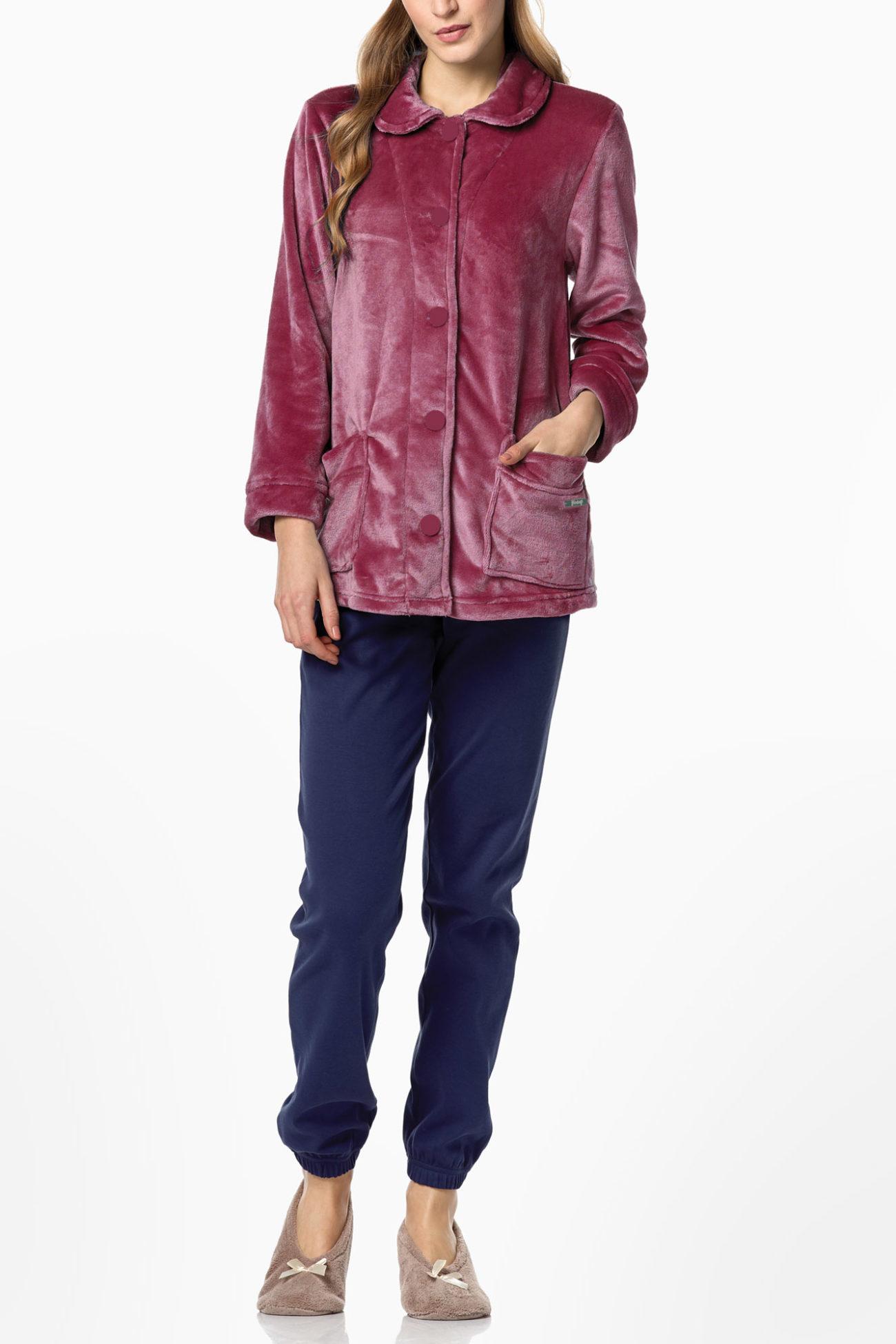 Γυναικεία Ρόμπα Vamp fleece - 0403-254 Μπορντό