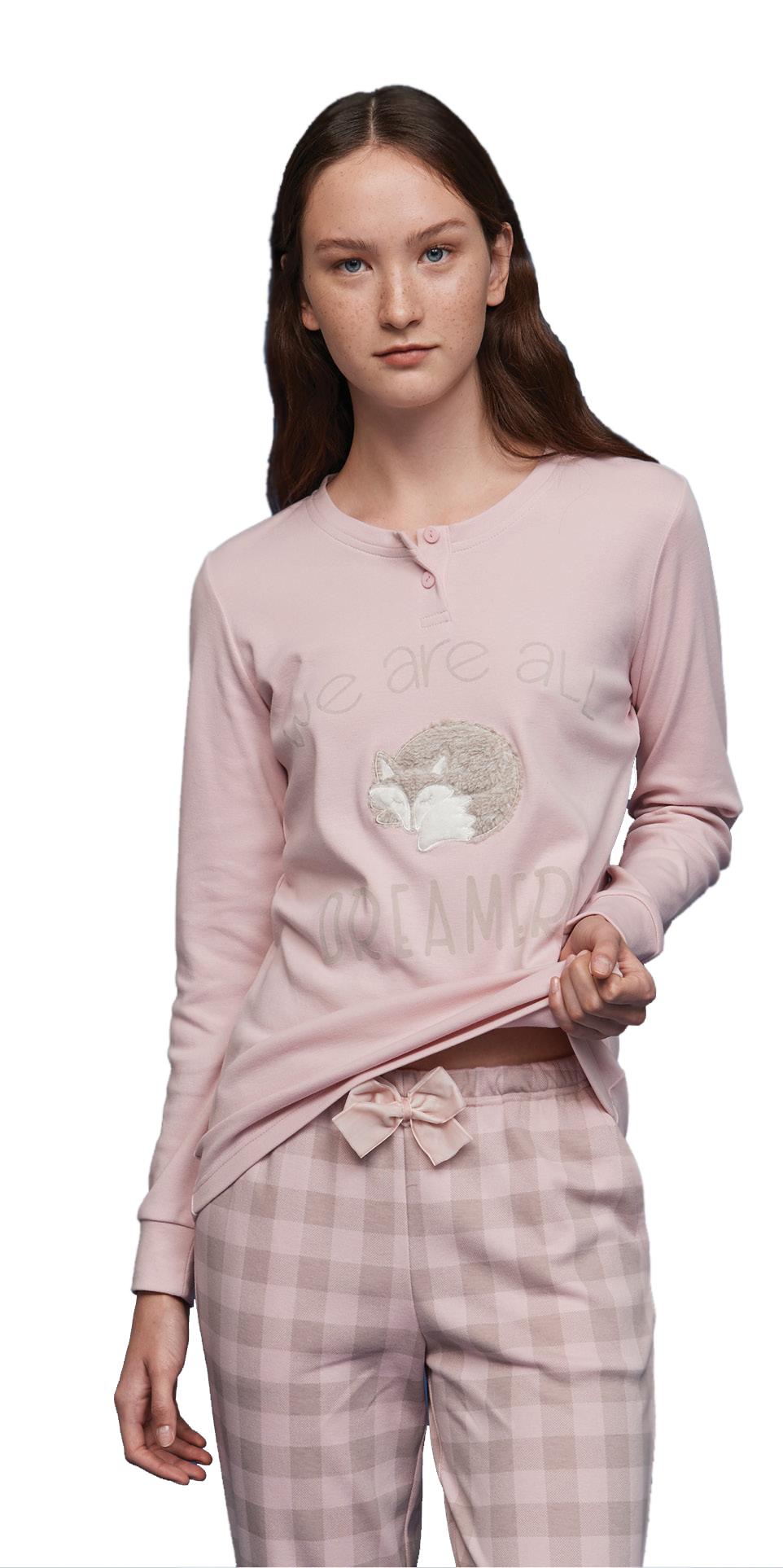 Γυναικεία πυτζάμα Noidinotte FA6842PB Ροζ