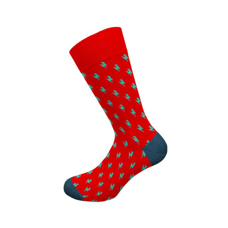 Ανδρική κάλτσα Walk - W1064-11 Κόκκινη