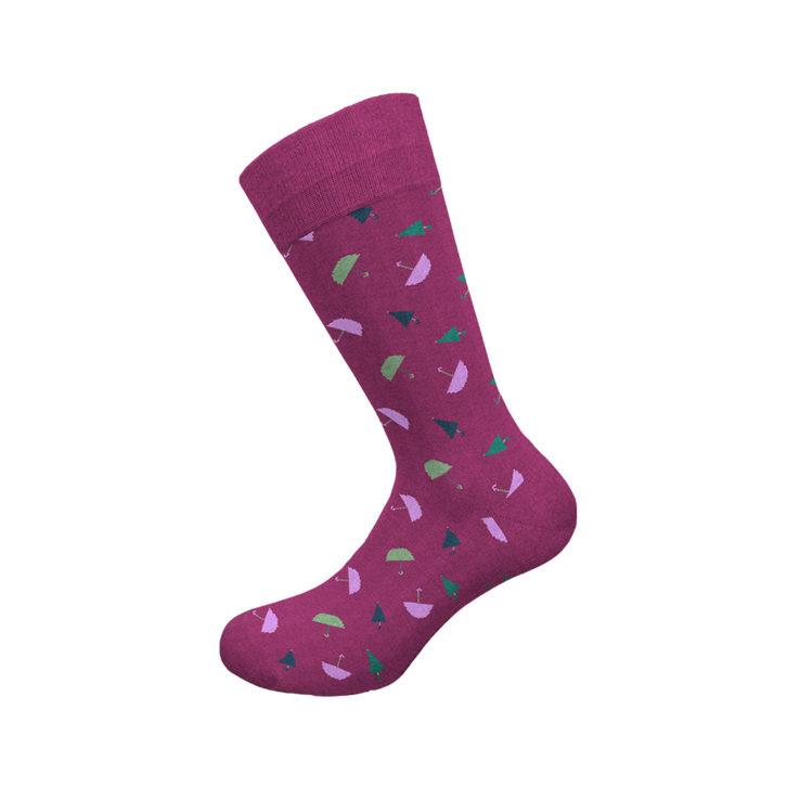 Ανδρική κάλτσα Walk - W1064-12 Μοβ