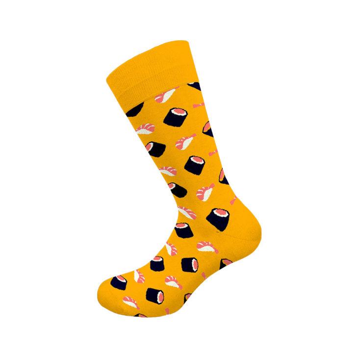 Ανδρική κάλτσα Walk - W1064-13 Κίτρινη