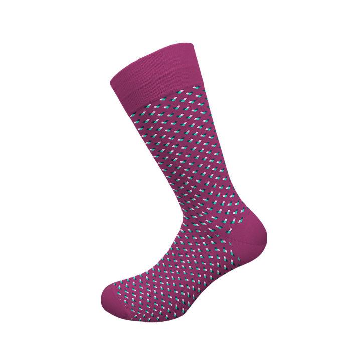 Ανδρική κάλτσα bamboo Walk - W304-11 Μοβ