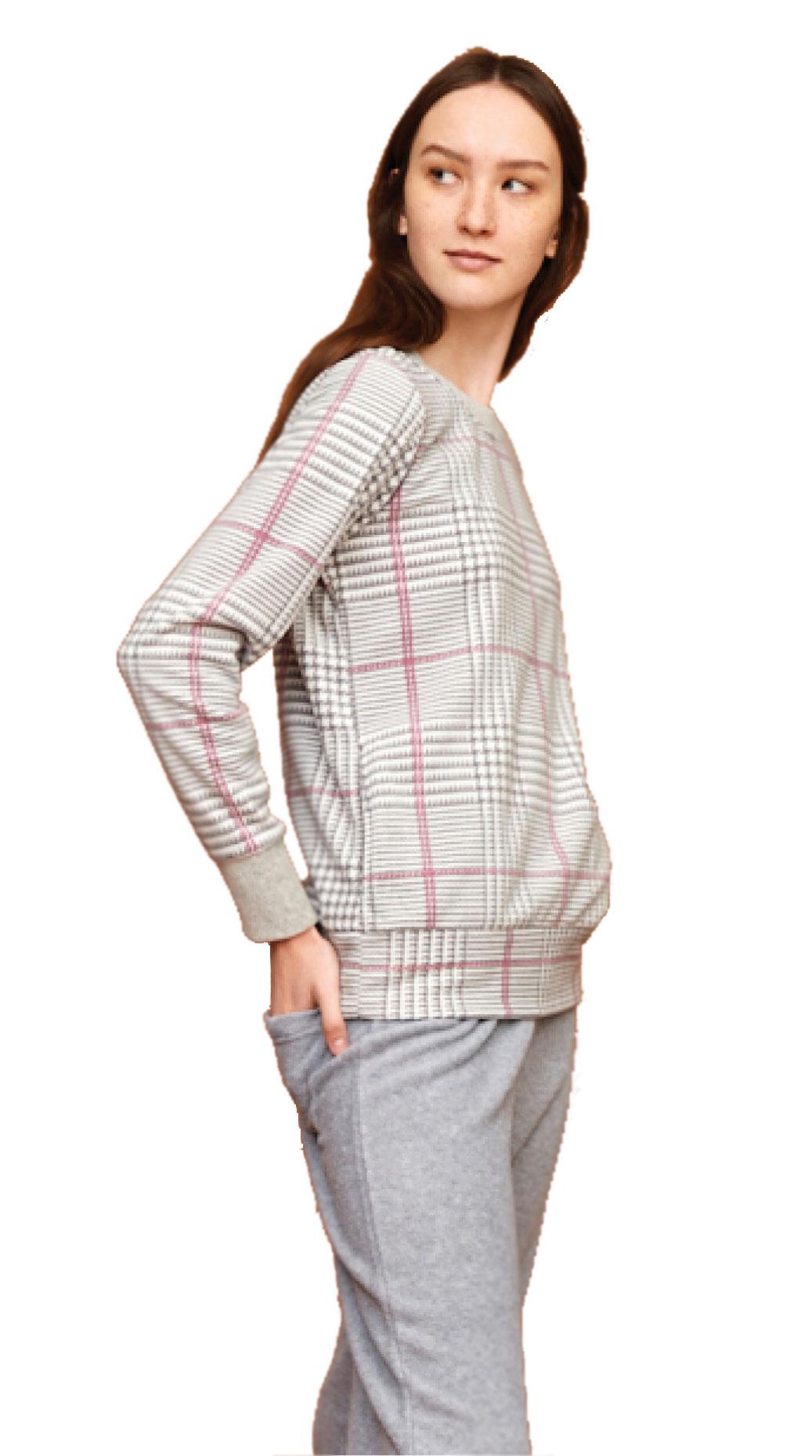 Γυναικεία πυτζάμα Noidinotte Fleece FA6887 Γκρι