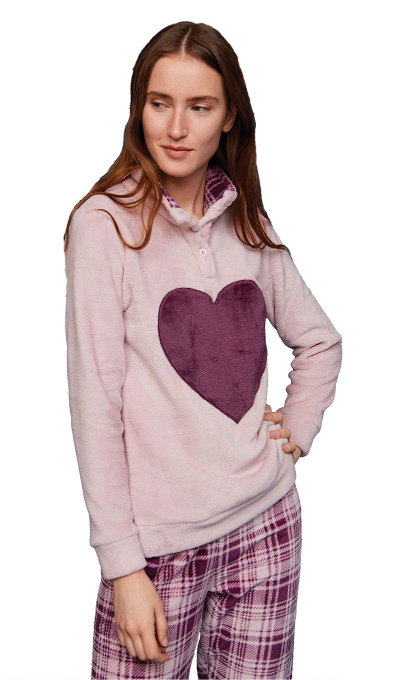 Γυναικεία πυτζάμα Noidinotte FA6909 Ροζ