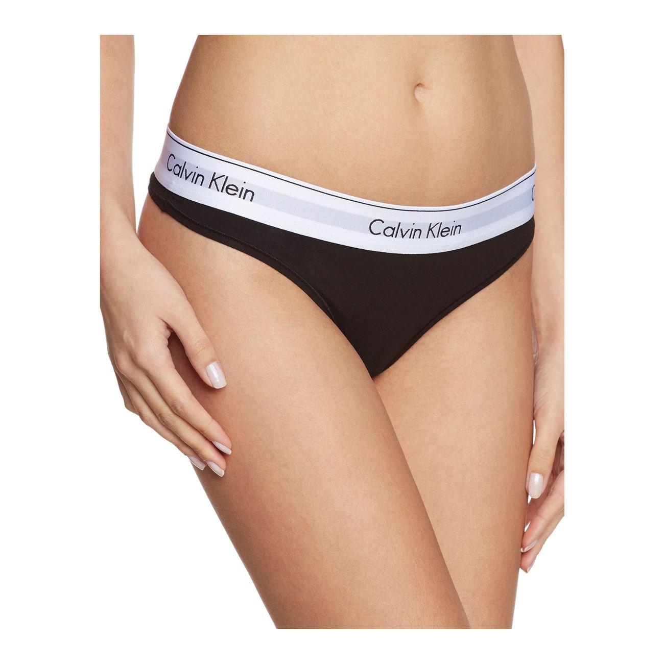 Γυναικείο String Calvin Klein 0000F3786E-001 - Μαύρο