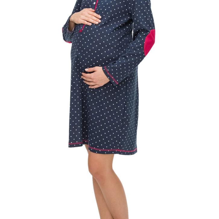 Γυναικείο Νυχτικό Vamp Εγκυμοσύνης - 11431 Μπλε