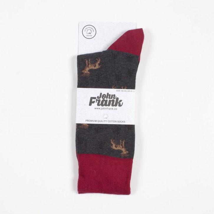 Ανδρική κάλτσα John Frank - JFLS19WCOOL26 - Γκρι