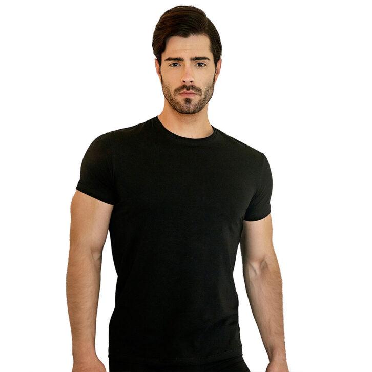 Ανδρική φανέλα με κοντό μανίκι Guy Laroche - 4-3103 Μαύρη
