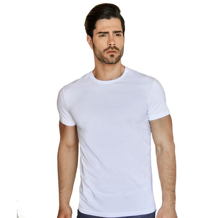 Ανδρική φανέλα με κοντό μανίκι Guy Laroche - 4-3103 Λευκή