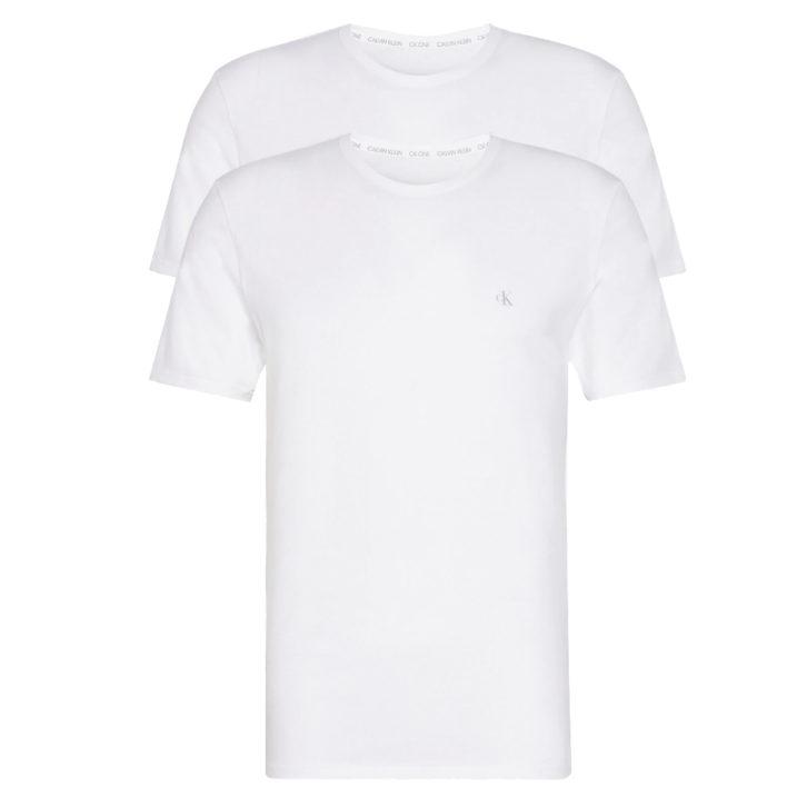 Ανδρική φανέλα με κοντό μανίκι 2 Pack Calvin Klein - 000NB2221A - Λευκό