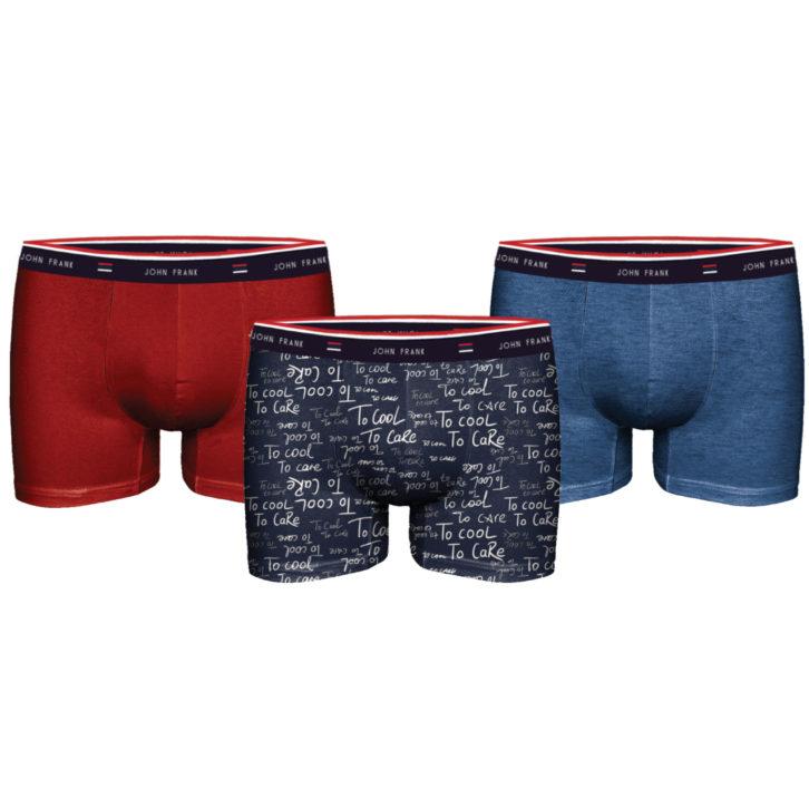 Ανδρικό Boxer John Frank 3pack - Jf3bfg03 - Πολύχρωμο