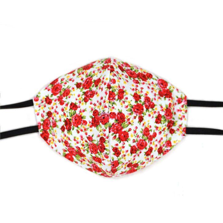 Βαμβακερή Μάσκα Προσώπου Πολλαπλών Χρήσεων - Blush Rose - Πολύχρωμη
