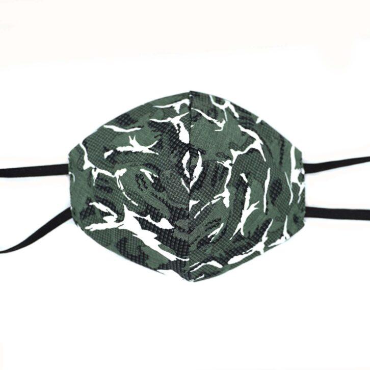 Βαμβακερή Μάσκα Προσώπου Πολλαπλών Χρήσεων - Camo - Πολύχρωμη