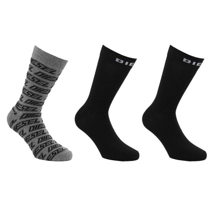 Κάλτσες Diesel 3 pack - 00SAYJ 0KAYL E4366 F - Μαύρο