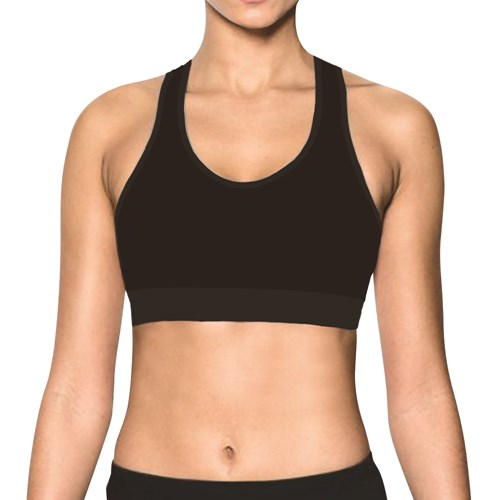 Γυναικείο Αθλητικό bralette Walk - W950 - Μαύρο