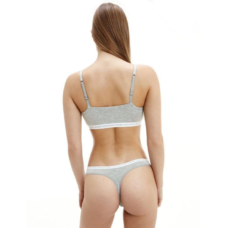 Γυναικείο String 2 Pack Calvin Klein  000QD3788E-8HT  Γκρι