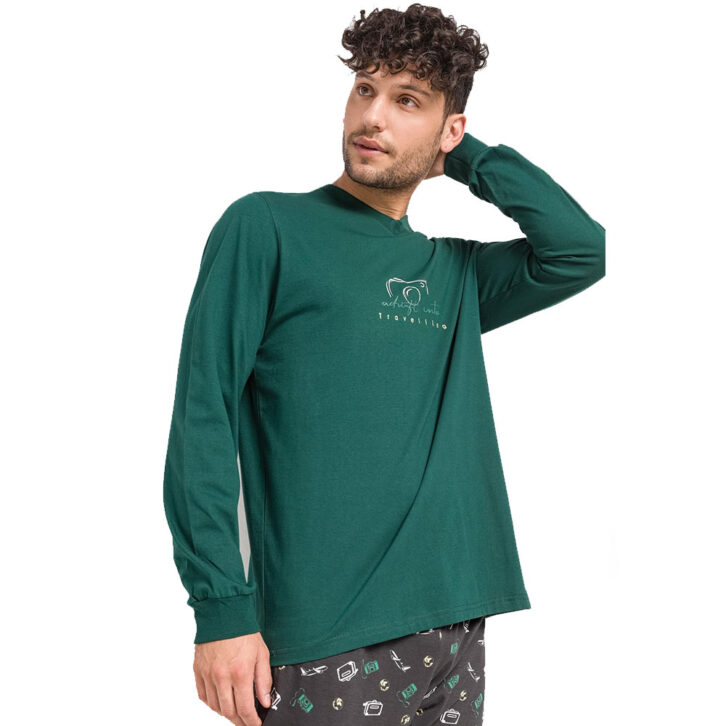 Ανδρική Πυτζάμα Vamp  13680  Πράσινη