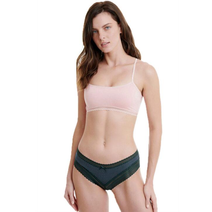 Walk Γυναικείο Hipster δαντέλα/bamboo 2-pack W2017-5 πράσινο-ροζ