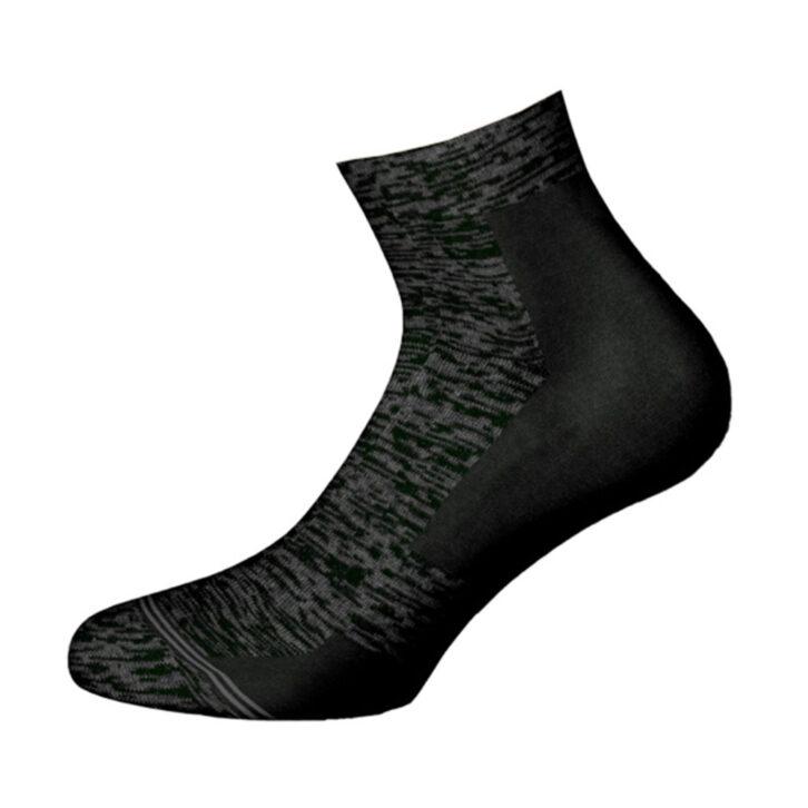 Ανδρική κάλτσα βαμβακερή Walk - W127-3  - Μαύρο