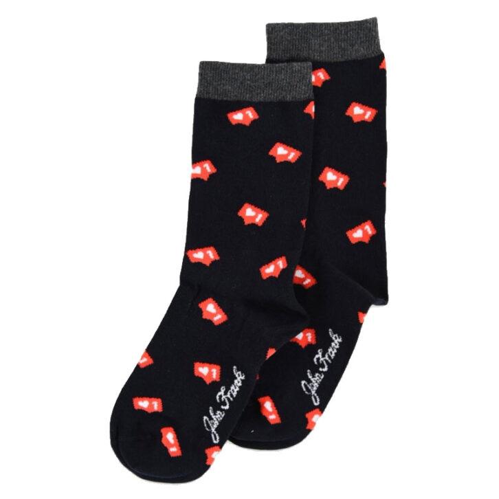 Γυναικεία κάλτσα John Frank Insta Love WJFLSFUN40 Μαύρο