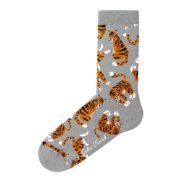 Γυναικεία κάλτσα John Frank Tiger WJFLSFUN41 Γκρι