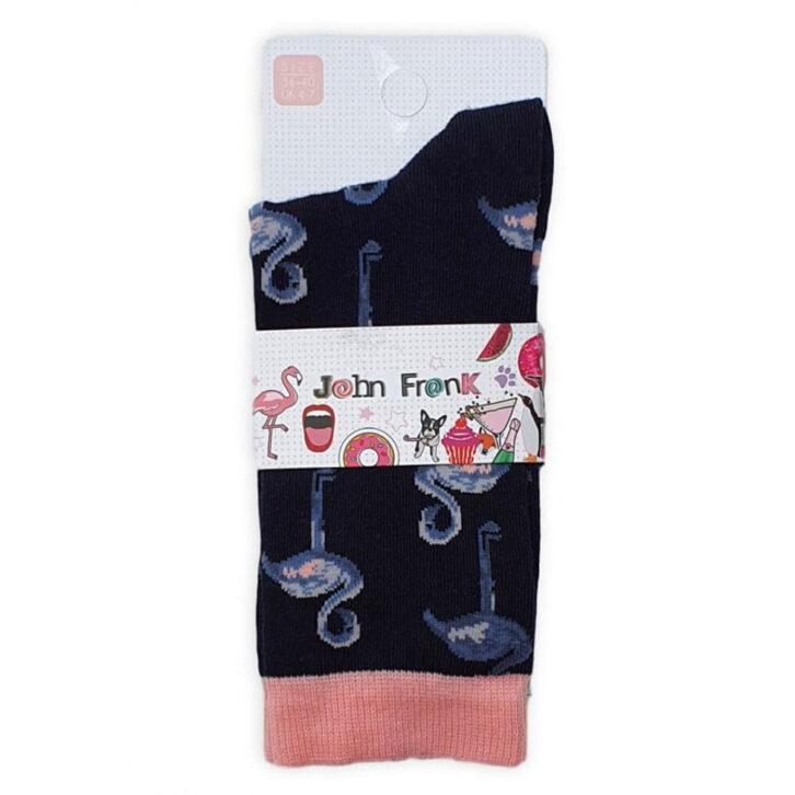 Γυναικεία κάλτσα John Frank Flamingo  WJFLSFUN46  Μπλε