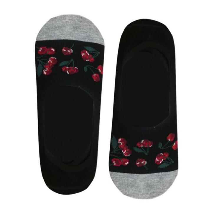 Γυναικεία κάλτσα σουμπά John Frank Cheries  WJFNSFUN19-01  Μαύρο