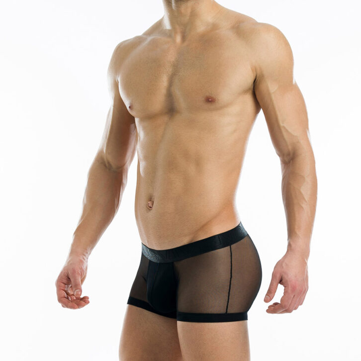 Ανδρικό Boxer Modus Vivendi Transparent 19621_black Μαύρο