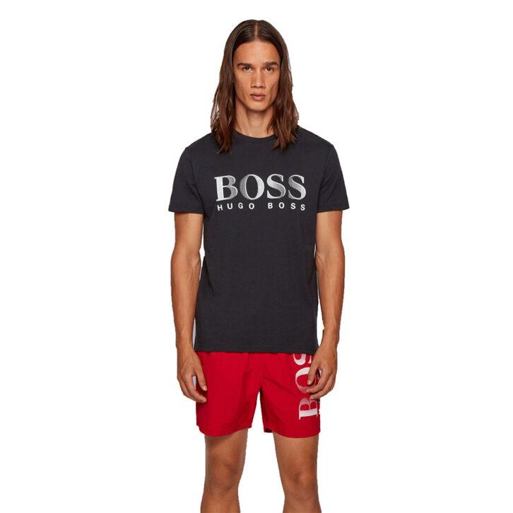 Ανδρικό Βαμβακερό T-shirt HUGO BOSS 50407774-007 Μαύρο