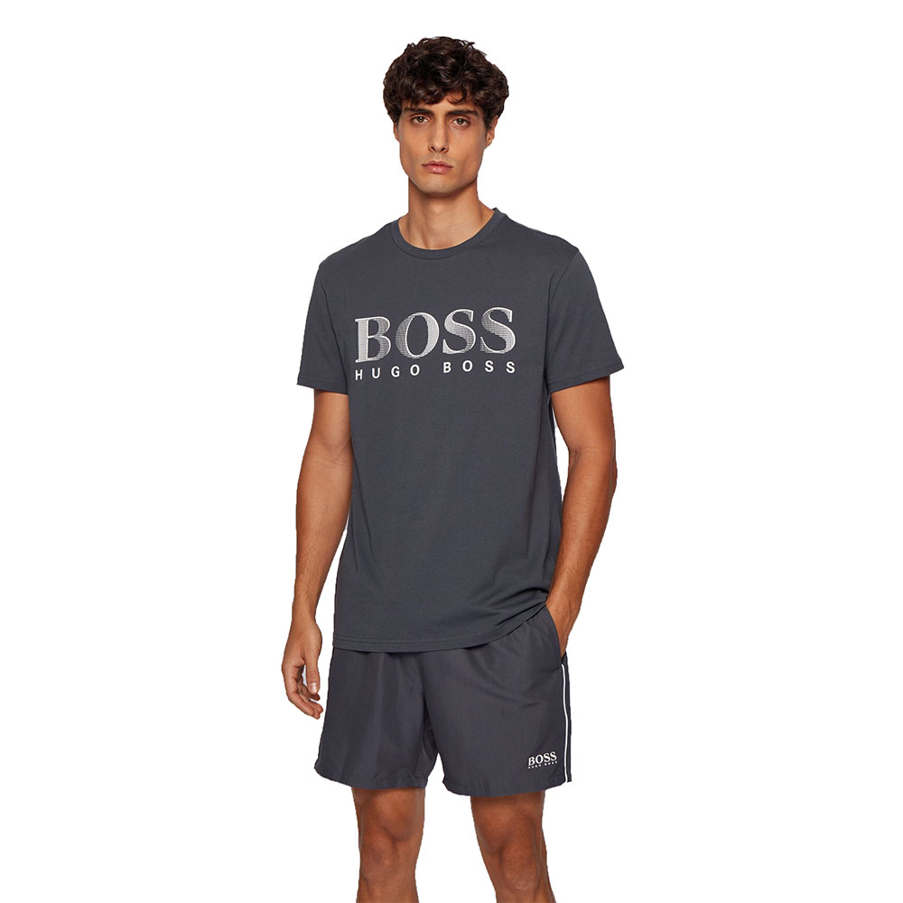 Ανδρικό Βαμβακερό T-shirt HUGO BOSS 50407774-024 Γκρι