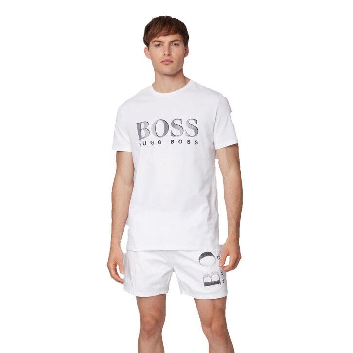 Ανδρικό Βαμβακερό T-shirt HUGO BOSS 50407774-107 Λευκό