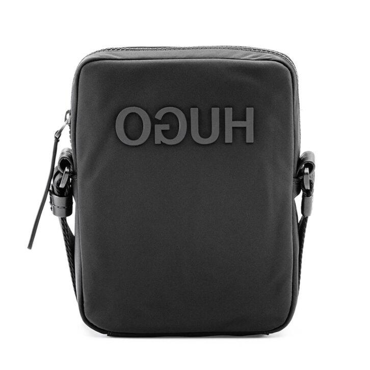 Ανδρικό Τσαντάκι Ώμου με Ανεστραμμένο Λογότυπο HUGO BOSS 50418788-001 Μαύρο