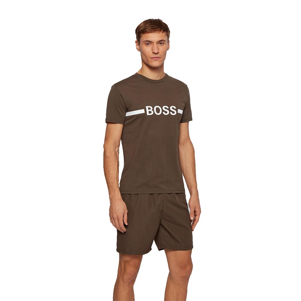 Ανδρικό Βαμβακερό T-shirt HUGO BOSS 50437367-413 Μπλε